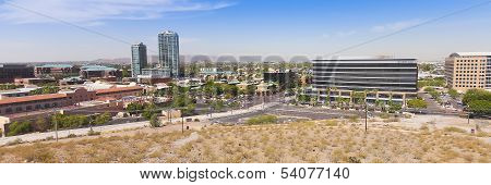 A Panoramic View Of Mill Avenue, Tempe