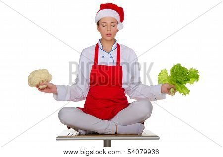 The Meditator Cook With Vegetables