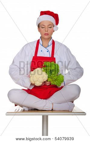 Meditation Cook With Vegetables