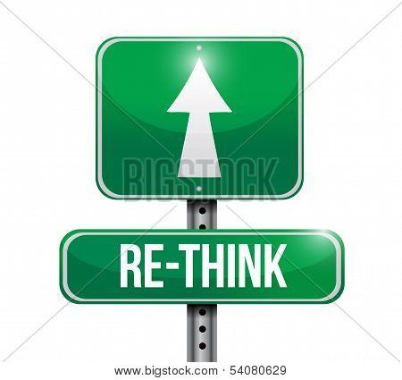 Rethink Road Sign Illustration Design