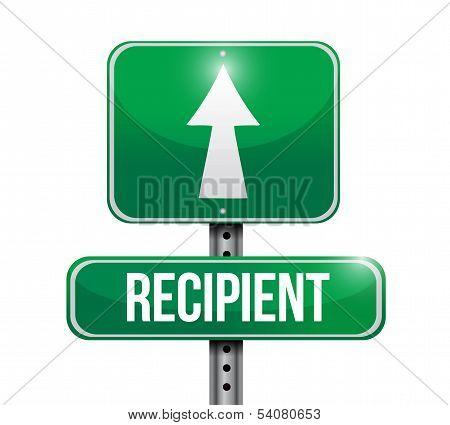 Recipient Road Sign Illustration Design