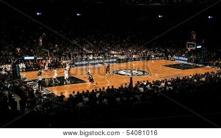 BROOKLYN, NY-DEC 4: General view of a game between the Brooklyn Nets and Oklahoma City Thunder at Barclays Center on December 4, 2012 in Brooklyn, New York.