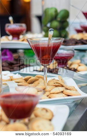 Buffet With Cookies And Jam