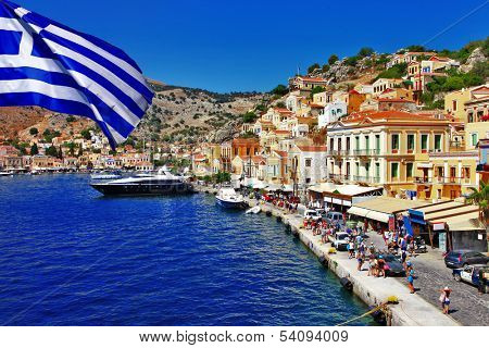 colorful Greece series - Symi island