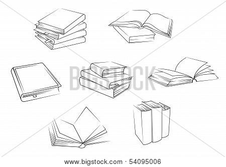 School And Library Books Set