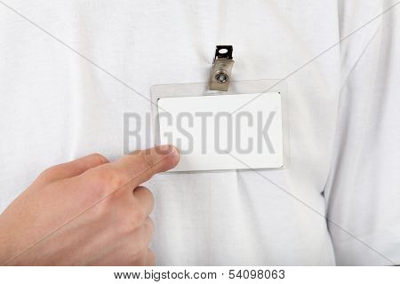 Person Shows His Badge