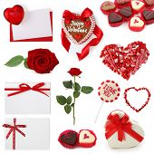 Valentine collection isolated on white background