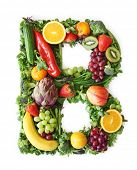 foto of letter b  - Fruit and vegetable alphabet  - JPG