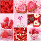 Sweets for valentine's day collage