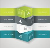 image of origami  - Modern options bannercan be used for workflow layout infographics number llines web design - JPG