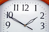 stock photo of last day work  - The very big modern wall clock dial - JPG