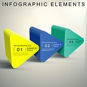 picture of prism  - vector abstract 3d Triangular prism infographic elements - JPG