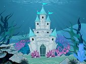 image of mermaid  - Magic Fairy Tale Mermaid Princess Castle - JPG
