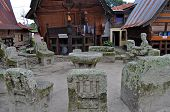 picture of minangkabau  - The stone chairs of Ambarita where tribal elders held council - JPG