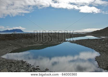 Reflection of the Sky in Hornsund, Svalbard