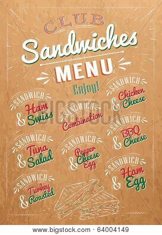 Sandwiches menu kraft