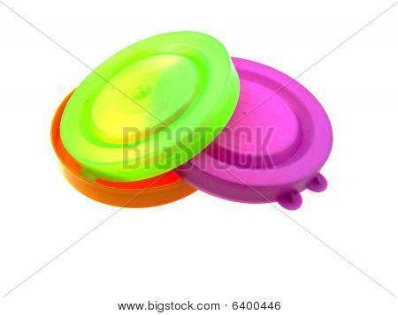 Some Multi-coloured Plastic Caps