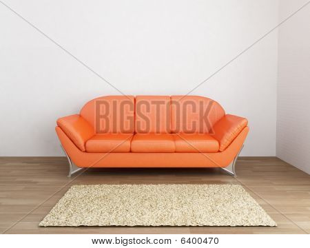 Couch To A Blank Wall