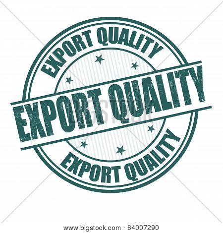 Export Quality Stamp