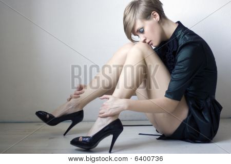 Woman With Long Legs