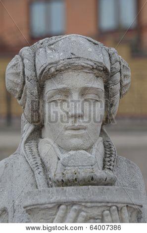 KIEV, UKRAINE -APR 21, 2014: Park decoration sculpture.Recreational area of Kiev. .April 21, 2014 Kiev, Ukraine