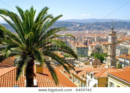 Panoramic view of Nice city
