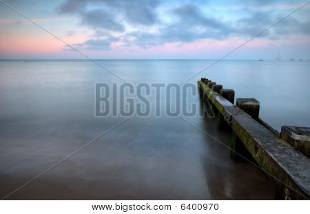 Calm sea at sunset