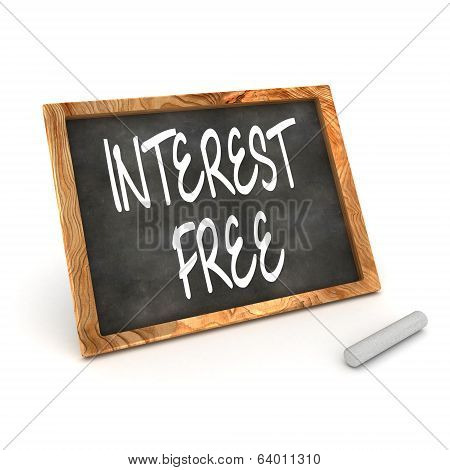 Interest Free Blackboard
