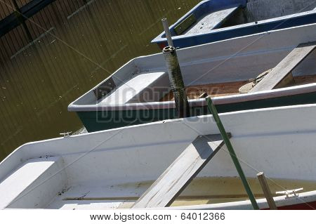 Rowing boats in the boat hire