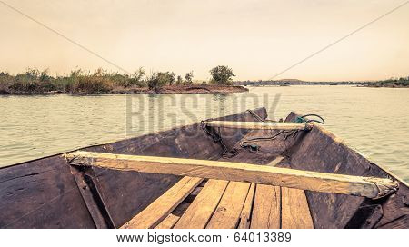 Pirogue on the Niger River in Mali