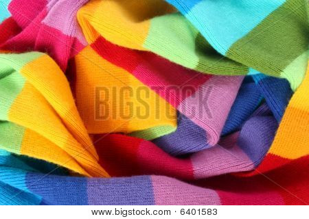 multicolored wool scarf texture