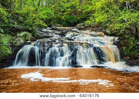 Rushing waterfall in Georgia mountains near Atlanta