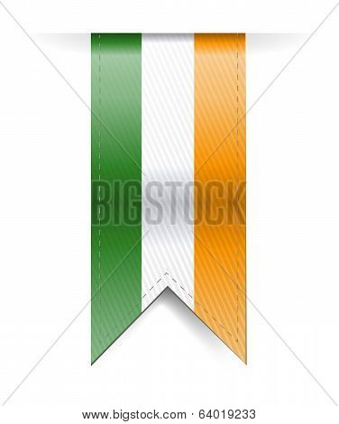 Ireland Flag Banner Illustration Design