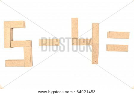 jenga aritmetics addition a white background