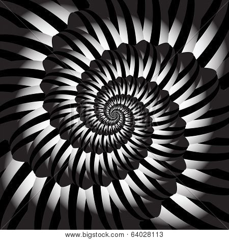 Design Monochrome Helix Movement Illusion Background