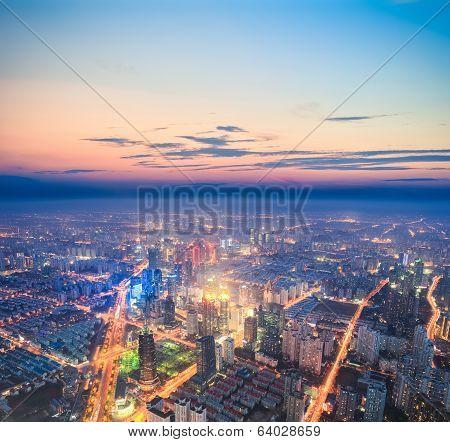 City Nightfall Scene