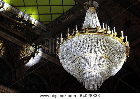 The Large Crystal Chandelier