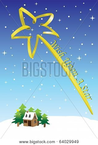 Wish Upon A Star Concept Vector Illustration