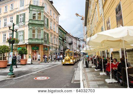 Central Street In Bad Ischl, Austria