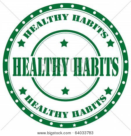 Healthy Habits-stamp