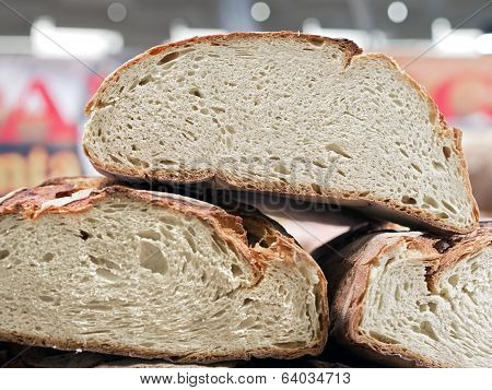 Great Forms Of Italian Homemade Bread On One Another