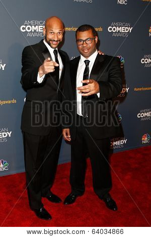 NEW YORK-APR 26: Comedians Keegan-Michael Key (L) and Jordan Peele attend the American Comedy Awards at the Hammerstein Ballroom on April 26, 2014 in New York City.