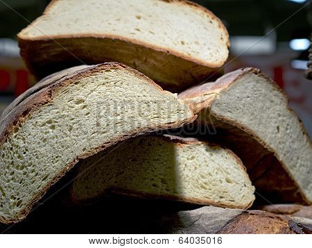 Forms Of Homemade Bread On One Another