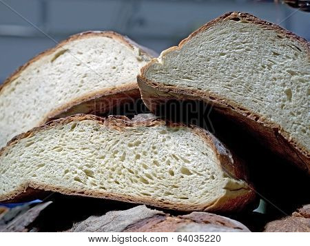 Forms Of Italian Homemade Bread On One Another