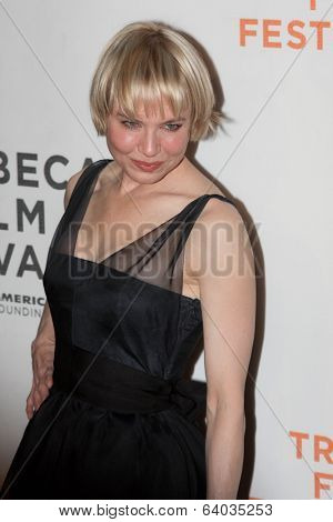 NEW YORK - APRIL 22: Actress Renee Zellweger attends the premiere of
