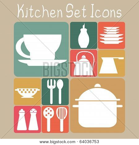 Kitchen Set Icons