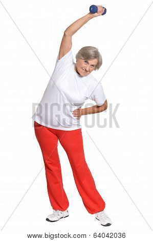Mature woman lifts
