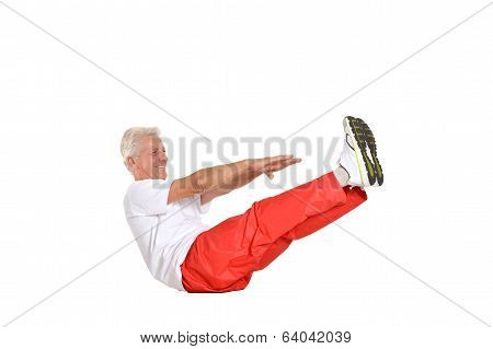 Elderly man exercising