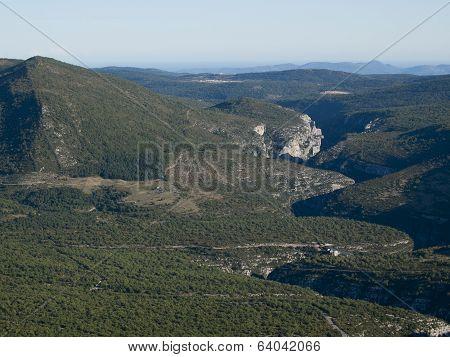 The Gorges Du Verdon The Famous Canyon In Alpes-de-haute-provence, France