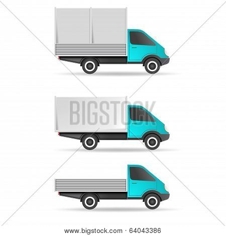 Cargo truck pickup and tent